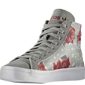 Adidas Courtvantage Floral High Top Walking Shoe